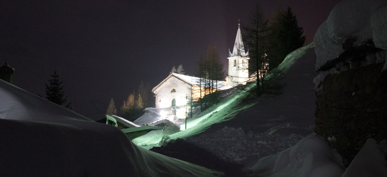 Eglise Nuit Hiver Sshow